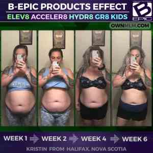 weight loss progress with bepic pills Elev8 and Acceler8