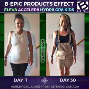 Weight Loss with BEpic's Acceler8 (photo before-after)