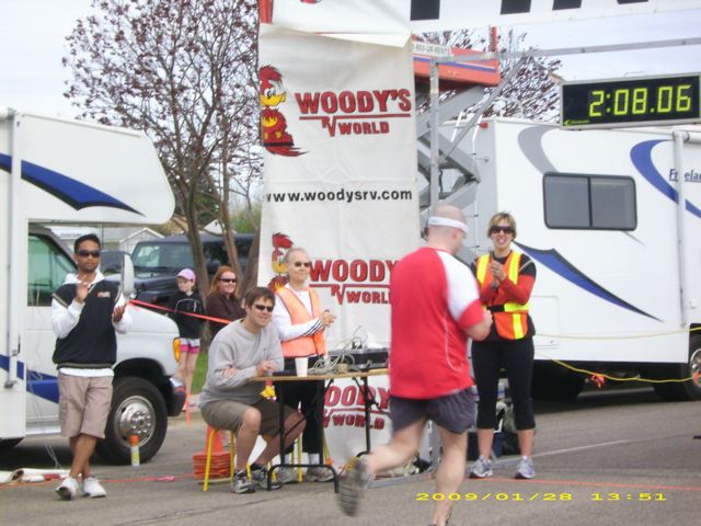 Woody's Red Deer Marathon Finish