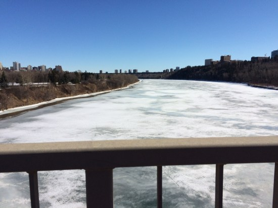 North Saskatchewan River from Groat Road Bridge