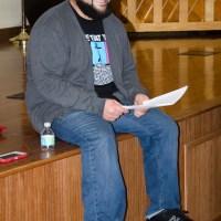 """Jonathan """"Courageous"""" Clark leading workshop participants."""