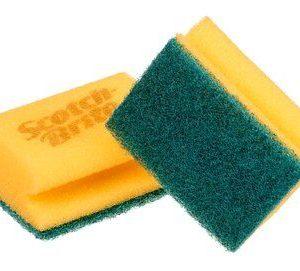 Groen gele spons 3M™ Synthetische schuurspons met handgreep 24D