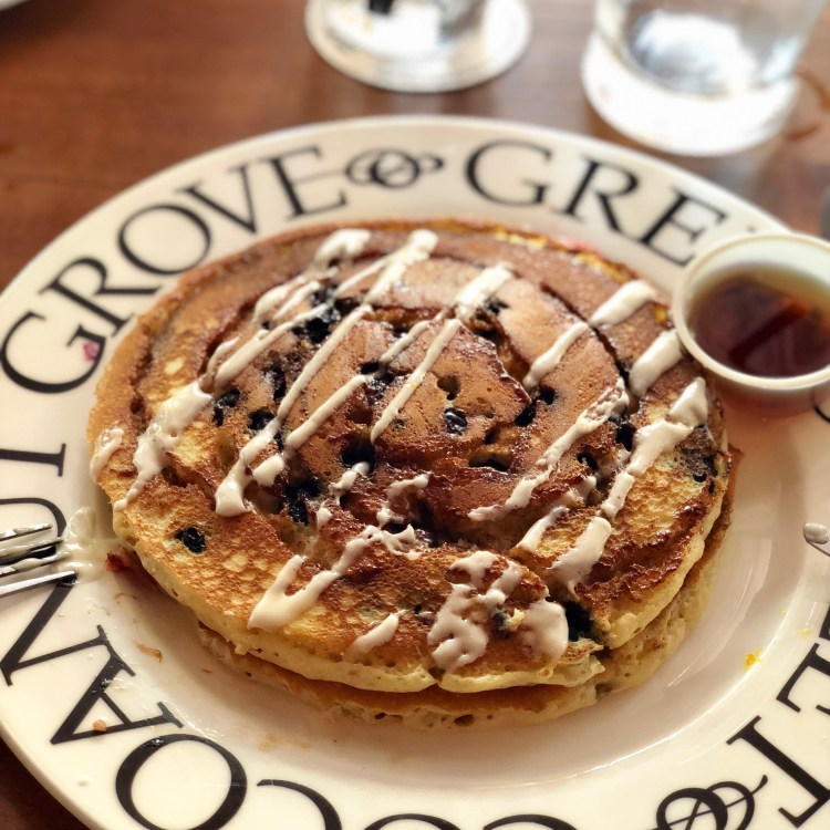 Greenstreet cafe blueberry pancakes