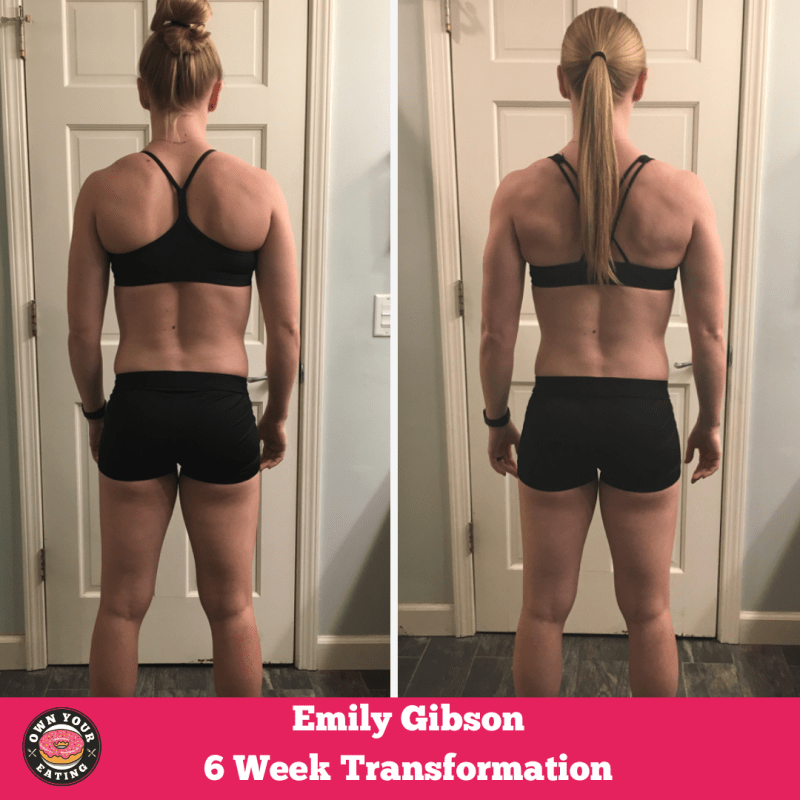 Emily Gibson nutrition transformation