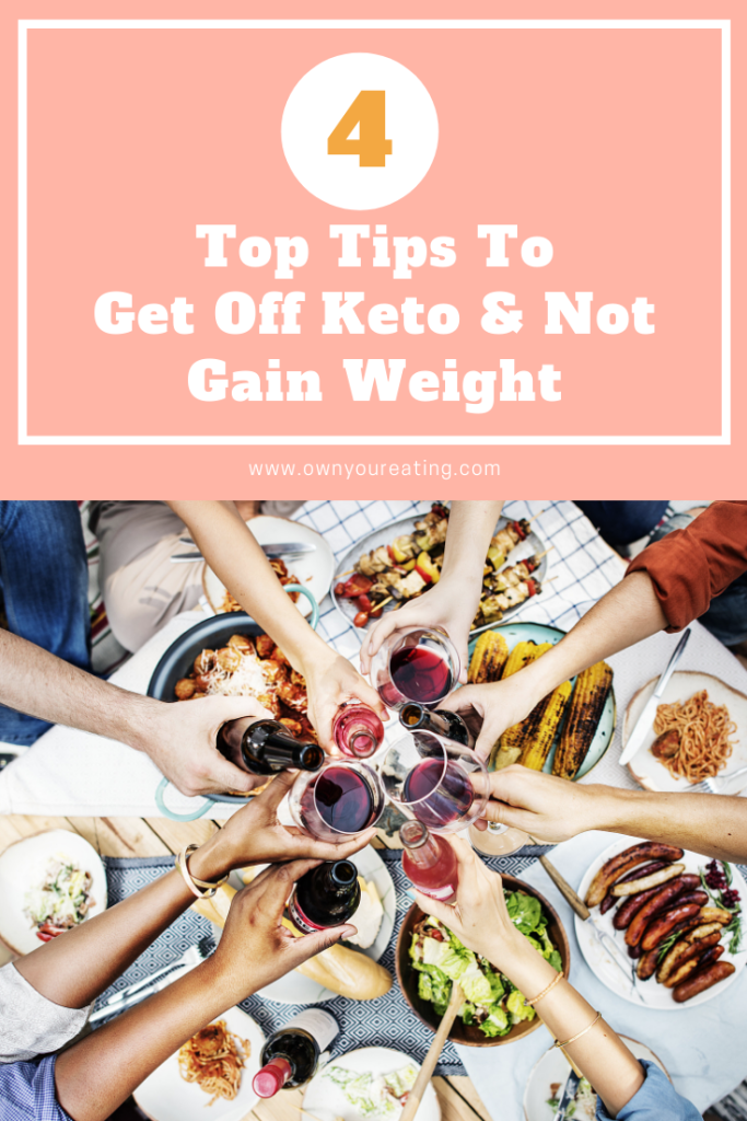 getting off keto without gaining weight