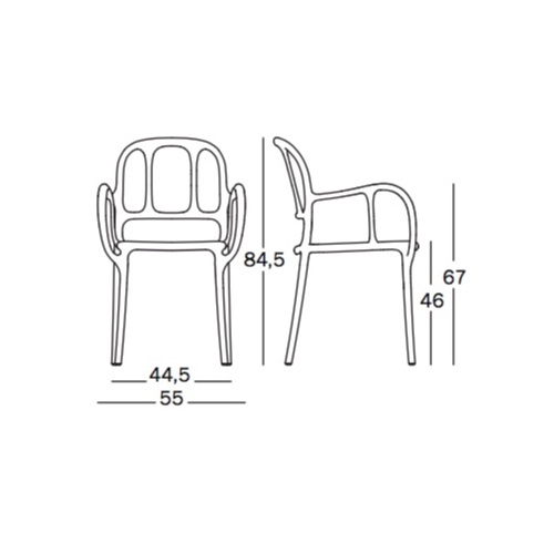 magis mila chair dimensioni