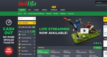 Bet9ja football betting site