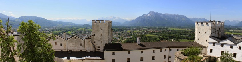 Blick auf die Salzburger Alpen