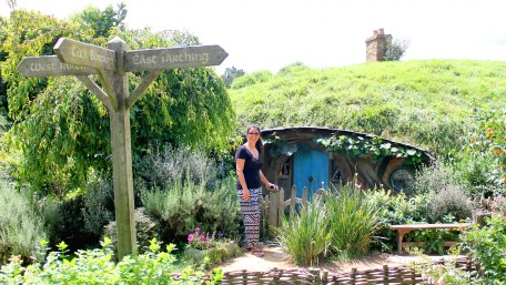 Hobbiton: Verkleinertes Set, um als Mensch größer als ein Hobbit zu wirken