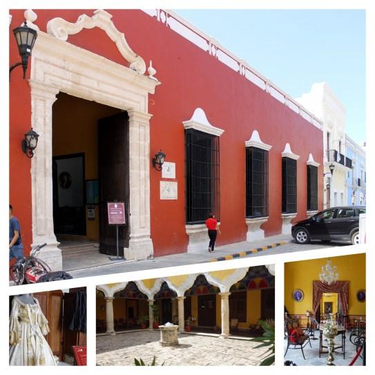 Campeche: Kulturzentrum Casa No. 6 auf der Westseite der Plaza Principal