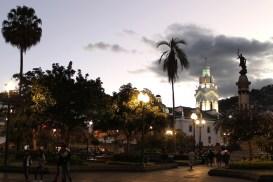 Das Centro Historico mit dem Plaza Grande bei Dämmerung