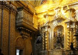 """In der Jesuitenkirche """"Inglesia de la Compañía de Jesús"""" wurden sieben Tonnen Gold verbaut"""