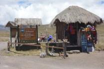 Eingang zum Cotopaxi Nationalpark