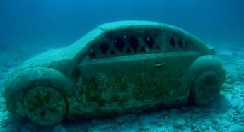 Mexiko, IslaMujeres, Diving Musa - Tauchen im Unterwassermuseum, VW-Beatle
