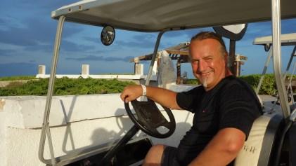 Mexiko, Isla Mujeres: Im Golf-Cart unterwegs zum Punta Sur