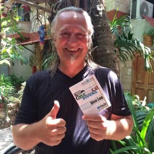 Mexiko, Isla Mujeres: Endlich ist es soweit! Ich bin Scuba Diver. Vielen Dank an Ivan und die Mexican Diver