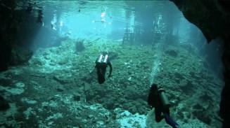 Mexiko, Tulum, Cenoten Tauchen: Auf dem Rückweg zum Einstieg in die Gran Cenote