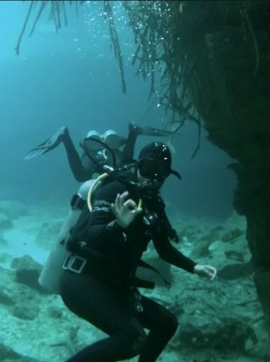 Mexiko, Tulum, Cenoten Tauchen, Casa Cenote: Buddy Check - alles klar?