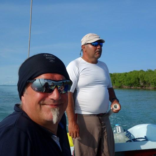 Belize Barrier Reef: Unser Skipper und ich