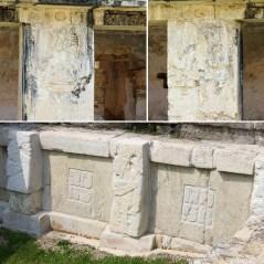 Palenque: Relief- und Stuckdetails aus dem Osthof des El Palacio