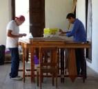 San Cristobal, Casa de la Cultura: Lehrer und Schüler beim Marimba-Spiel