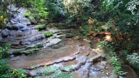 Palenque, Dschungeltour: Die Cascada Montiepa waren wohl schon zu Zeiten der Maya vorhanden