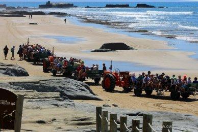 Cape Kidnapper: Bereit zur Rückfahrt am Strand entlang. Die Zeit drängt, damit wir nicht von der einsetzenden Flut abgeschnitten werden.