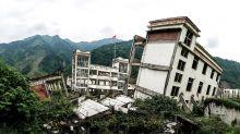 Herdenkingsmonument voor aardbevingen in Sichuan na de aardbeving in Sichuan, herdenkingsplaats voor aardbevingen in 2008 in China