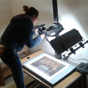 The print is photographed for electronic and printed reproduction