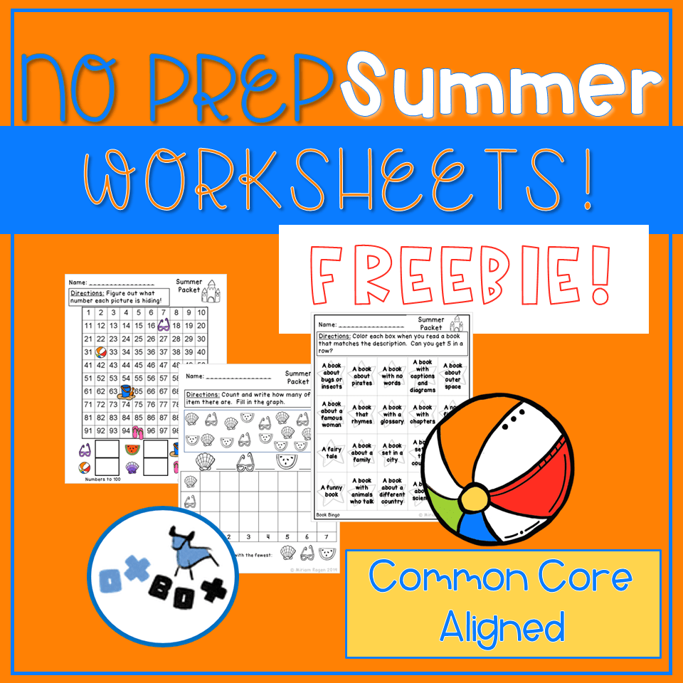 hight resolution of Summer Activities: No Prep Summer Worksheets (with a Freebie!) - OXBOX  TEACHING