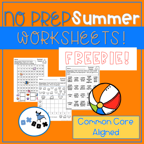 small resolution of Summer Activities: No Prep Summer Worksheets (with a Freebie!) - OXBOX  TEACHING
