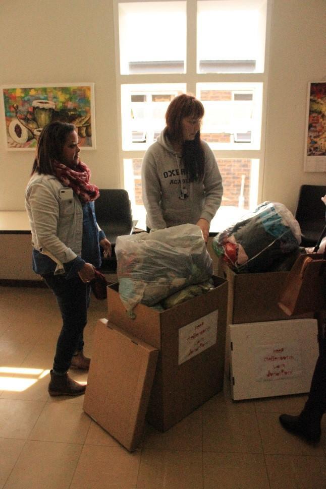 Oxbridge Academy employees visited the Stellenbosch Night Shelter to donate goods