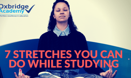 7 Stretches You Can Do While Studying