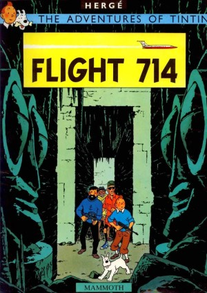 Hergé's next to last book* is about the hijack of a jet to an Indonesian island.