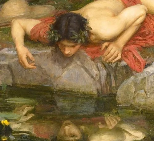 Detail from Echo and Narcissus by John Waterhouse