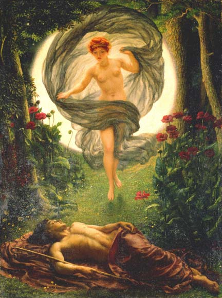 Selene and Endymion by Edmund Poynter