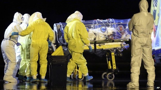An ebola victim lands in Spain