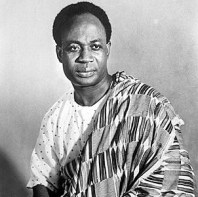 Kwame Nkruman, Pan-African visionary, ousted in 1966.