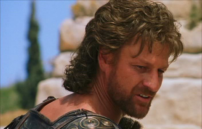 Sean Bean as Odysseus in Troy.