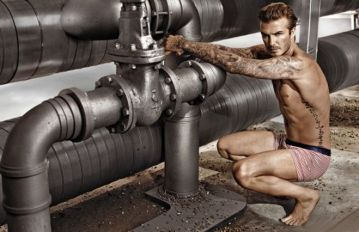 David Beckham (modelling a bathing suit)