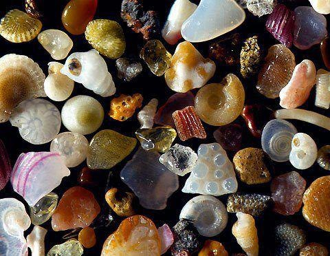 Sand magnified 250x