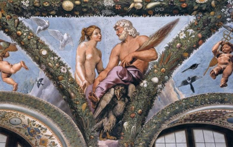 Venus and Jupiter discuss Psyche's future, Villa Farnesina