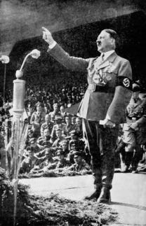 Adolf Hitler's use of amplification was critical to his success -- Pluto-Neptune conjunction (exact) in Gemini