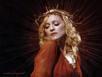 Madonna wearing a crown thorns. Leo Sun, Virgo Rising