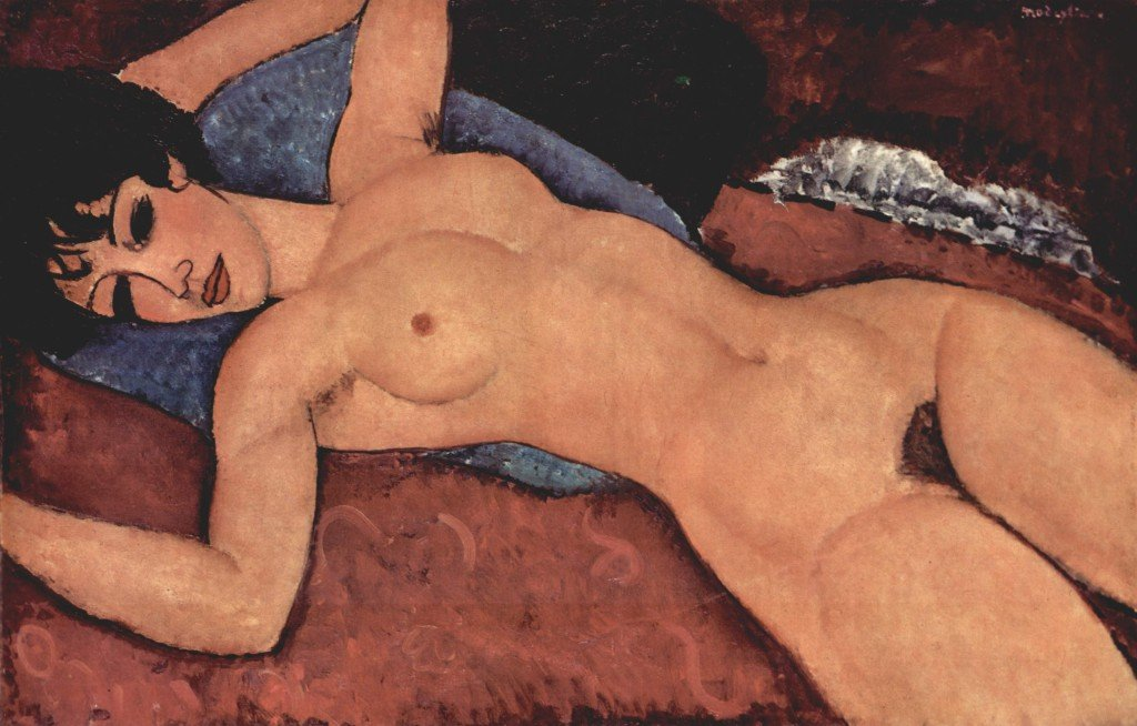 The most expensive painting on the planet, Reclining Nude by Amedeo Modigliani.