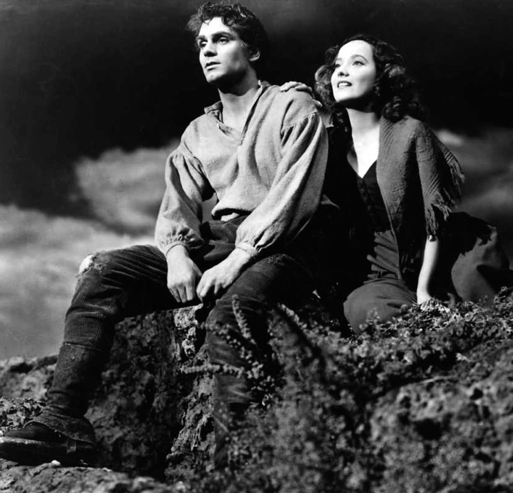 Laurence Olivier and Merle Oberon in Wuthering Heights, from the wild imagination of Emily Bronte -- Mars Venus conjunct in Virgo