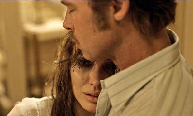 A still from By The Sea, the last movie they made together — about a marriage falling apart.