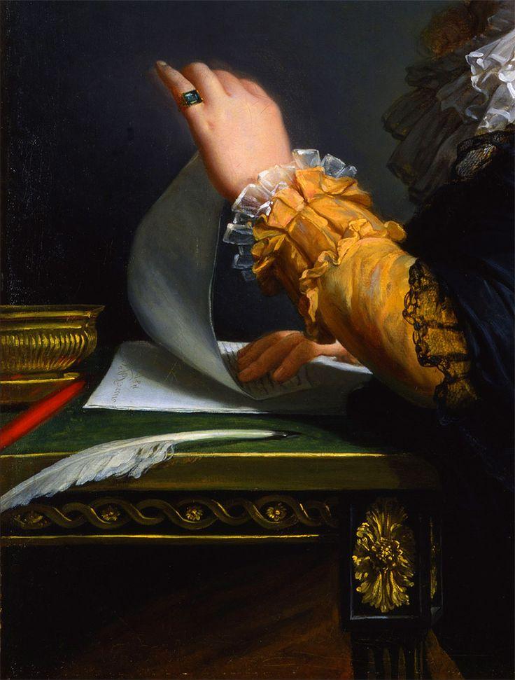 Detail from Portrait of the Comtesse de Ceres by Elisabeth Vigee LeBrun
