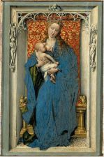 Virgin and Child Standing in a Niche. Rogier van der Weyden,