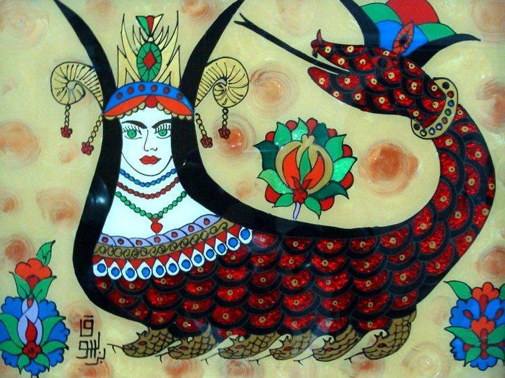 Shahmaran, Anatolian snake goddess of infinity and immortality.